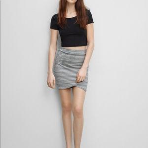 Aritzia Talula Cream Grey Mini Skirt